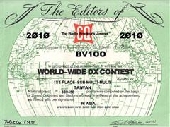 2010 CQ WW DX SSB Contest , 台灣第一