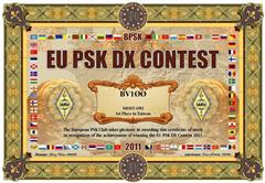 2011 EU PSK DX Contest,台灣第一